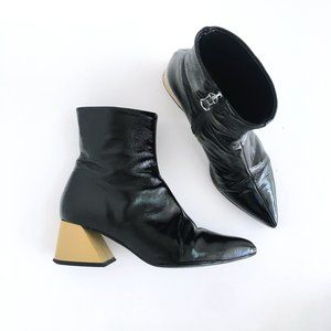 L'Intervalle Patent Leather Belgrade Boots - 36